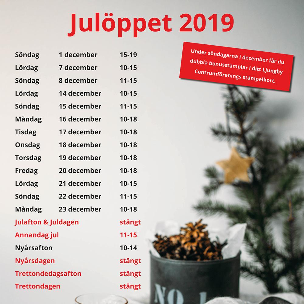 Ljungby julöppet 2019